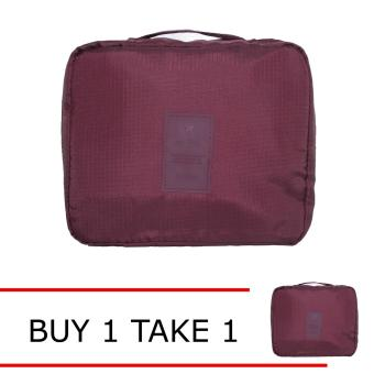 Travel Manila Toiletry Pouch Bag (Maroon) BUY 1 TAKE 1