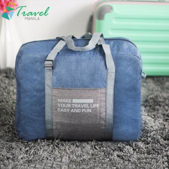 Travel Manila Weekeight Denim Foldable Duffle Bag (Blue)