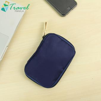 Travel Manila Weekeight Travel Organizer Gadget Pouch Dual Color(Navy Blue)