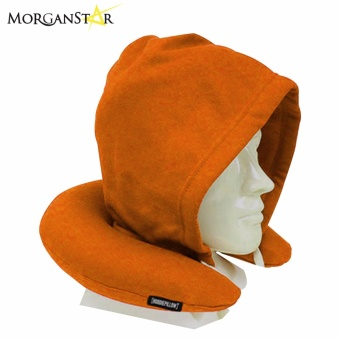 Travel Neck Pillow with Hood (Brown)