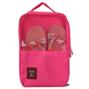 Travel Outdoor Shoes Storage Bag (Rose Red)