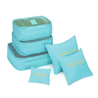 Travel Pouch 6 in 1 Packing Bags (Sky Blue)