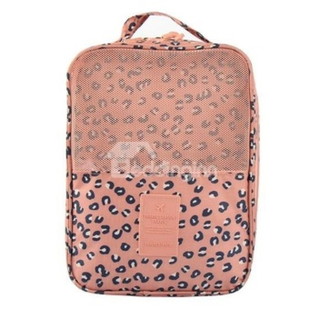 Travel Shoes Organizer Storage Bag Three Layers Waterproof(Leopard)with free Headset w/ mic