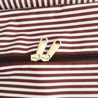 Travel weekender tote bag large capacity luggage foldable waterproof S0514a coffee - 4