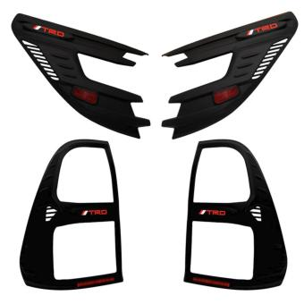 TRD Black Headlight Trim and Tail Light Cover for Hilux Revo