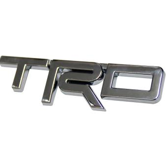 TRD Logo Trunk Emblem for Toyota Car (Silver)