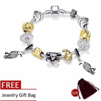 Treasure by B&D H022 Cute Animal Shape Pandora Bracelet (Silver Plated)