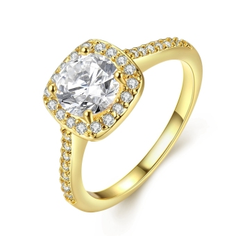 Treasure by B&D R002-A-8 Zircon Inlay Entourage Ring (Gold)