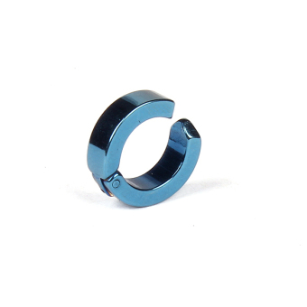 Trendy Ear Clip Titanium Steel Earrings Studs U Shaped Unisex Blue