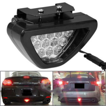 Triangle 12-LED Red Car Tail Third 3rd Rear Brake Stop Strobe Light F1 Style x 1 - Intl
