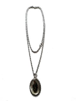 Trrrixii TGI-00851 White Metal Rope Chain Necklace with Large Medal Pendant 32'' (Concepcion)