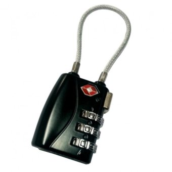 TSA Travel Luggage Lock - 3 Digit Reset-able Model TSA 335 (Black)
