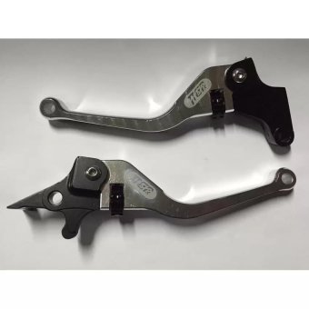 TTGR Motorcycle Brake Clutch Levers for Raider150 (Silver)