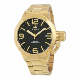 TW Steel Canteen Black Dial Gold Stainless Steel Men's Watch CB91