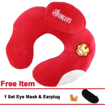 U Shaped Travel Neck Pillow Cotton Head Rest Pillows (Red) Price Philippines