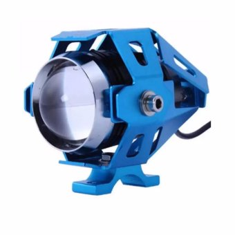 U5 LED Motorcycle Head Light Driving Spot Fog Lamp 125W 3000LM(Blue)