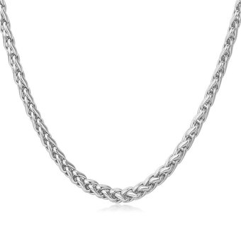 U7 Fashion Chain Necklace For Men/Women Stainless Steel Men JewelryAccessories (White)