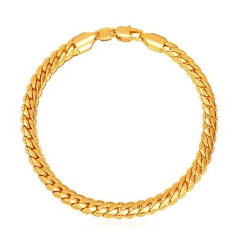 U7 Hot Classic 18K Real Gold Plated Chain Bracelet(Gold) - INTL