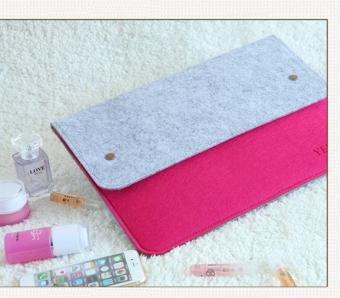 Ultra-Thin Protective Felt Sleeve Envelope Case Pouch Bag For AppleMacBook Pro / MacBook Air/ Retina 13 - 14 Inch - 3