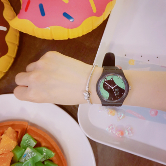 Ulzzang fashion Cat Soft round watch
