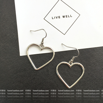 Ulzzang Japanese-style gold soft porous earrings