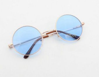Ulzzang Japanese-style multi-color celebrity inspired sunglasses round frame glasses