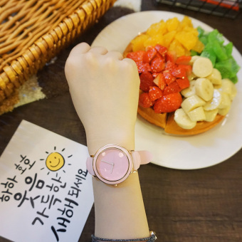 Ulzzang Korean-style round jelly quartz watch students watch