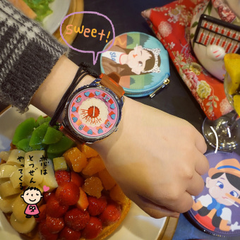 Ulzzang Korean-style soft small contrasting color watch