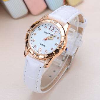 Ulzzang Korean-style waterproof women's leather belt watch Fashion women's watch