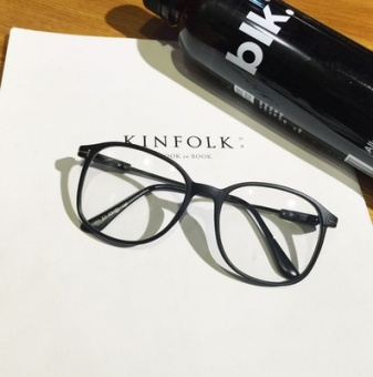 Ulzzang retro metal transparent round plain glasses