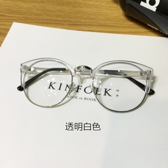 Ulzzang versatile transparent cat ears metal frame glasses