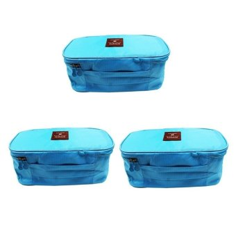 Underwear Pouch Set of 3 (Light Blue)