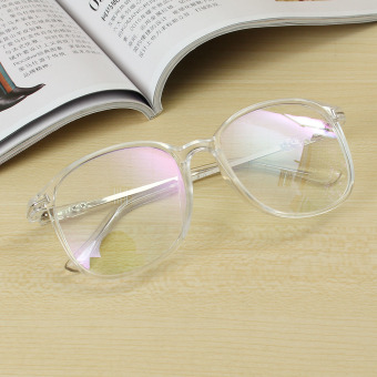 Unisex Full Rim Spectacles Transparent Eyeglass Frame Clear Glasses Eyewear Transparent - intl