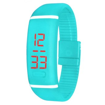 Unisex Ocean Blue Digital LED Sports Watch