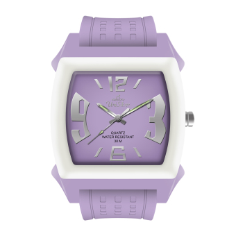 UniSilver TIME Kandy Krushhh (Regular Size) Unisex Lavender /Off-White Analog Rubber Watch KW479-3221
