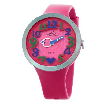 UniSilver TIME Lovestruck Women's Pink / Silver / Blue Analog Rubber Watch KW2192-2007