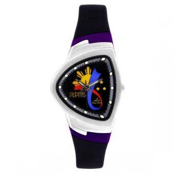 UniSilver TIME Makabayan FX Freedom & Expression Women's Black / Violet / Silver Analog Rubber Watch KW823-2204