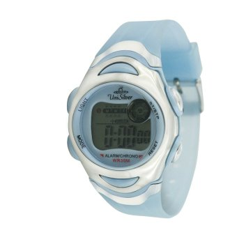 UniSilver TIME Men's Transparent Sky Blue Rubber Watch KW114-3444