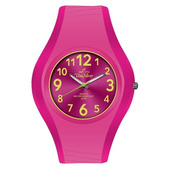 UniSilver TIME Spectra Women's Fuchsia Pink Rubber Watch KW1551-2007