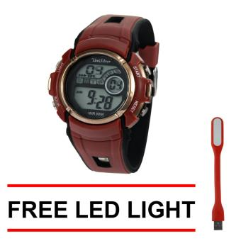 UniSilver TIME Xenon Digital Watch KW2212-2005 (Maroon/Black) With Free LED Light