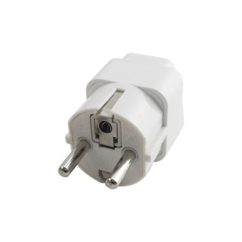 Universal 2 Pin UK US AU To EU EURO France Germany Korea Travel ACPlug Adapter Adaptor Convert Round Socket - intl Price Philippines