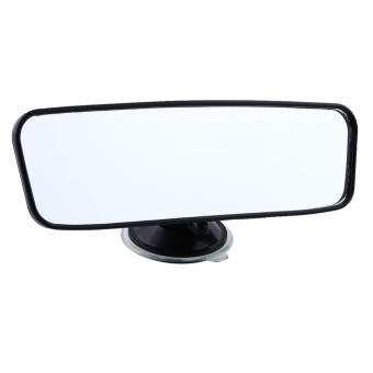 Universal 200mm Wide angle Car Rearview Rear View Mirror With Suction - intl