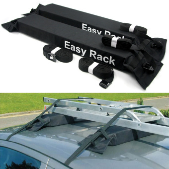 Universal Auto Soft Car Roof Rack Rooftop Luggage Carrier Load 60kg Baggage Easy Fit Removable. - 3