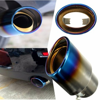 Universal Car Auto Stainless Steel Exhaust Muffler Tail Pipe Modification 140mm