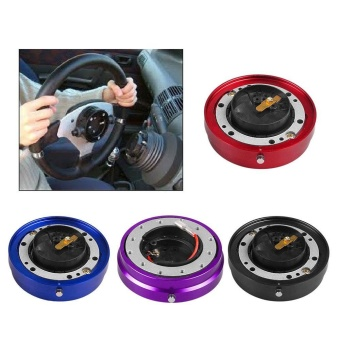 Universal Car Auto Steering Wheel Quick Release Hub Adapter Snap Off Boss Kit - intl
