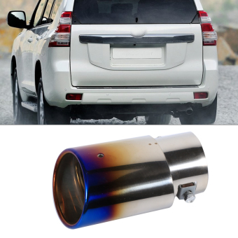 Universal Car Exhaust Tail Muffler Tip Pipe Chrome Colourful Round Stainless Steel For 1.8-2.2T - intl