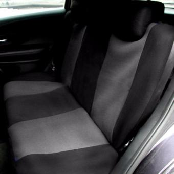 Universal Car Seat Cover Set 9Pcs Seat Covers Front Seat Back SeatHeadrest Cover Mesh Black and Gray - 4