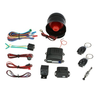 Universal Car Vehicle Security System Burglar Alarm Protection Anti-theft System 2 Remote - intl
