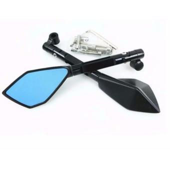 Universal CNC Aluminium Rearview Side Mirror(BLACK)