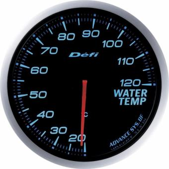 Universal DEFI Link Meter, Advance BF Gauge, Water TemperatureGauge (White/Blue)